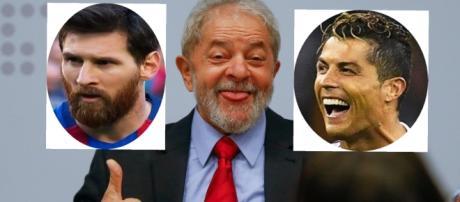 Lula se compara a Messi e Cristiano Ronaldo