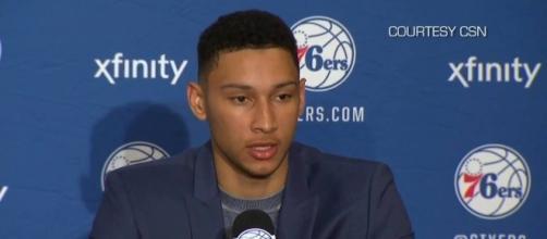Ben Simmons of the Philadelphia 76ers. [Image via YouTube/TheBasketballDunk]