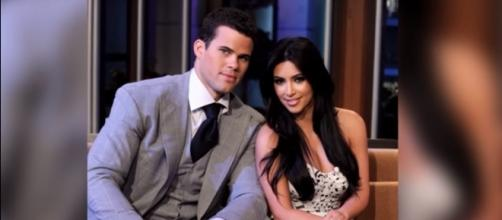 Kim Kardashian and Kris Humphries photographed when they were still together - YouTube/Clevver News