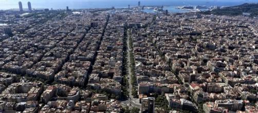 La ciudad de Barcelona, España.