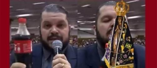 Pastor ridiculariza santos católicos