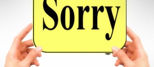 Saying sorry-Image via Pixabay