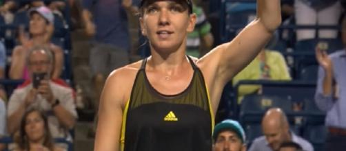 Simona Halep at 2017 Rogers Cup in Toronto. [Image via YouTube/WTA]