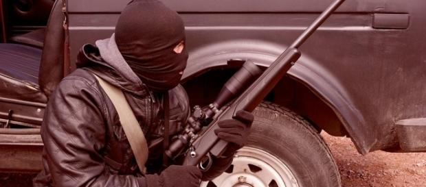 face of the urban terrorist attacking. Photo credit. pixabay.com/en/criminal-terrorist-rifle-weapons-1563428/