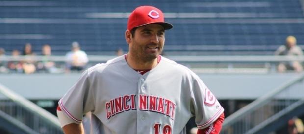 Joey Votto belted a three-run homer for the Reds -- Blackngold29 via WikiCommons