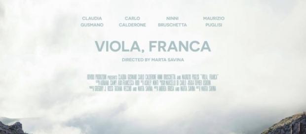 """Locandina del cortometraggio """"Viola, Franca"""""""