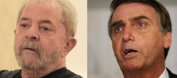 Lula e Bolsonaro são os primeiros na pesquisa