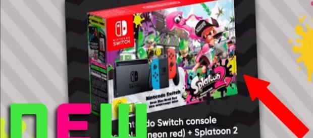 The 'Splatoon 2' Switch bundle. (image source: YouTube/Emoji Ethan)