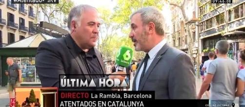 Antonio García Ferreras en La Rambla de Barcelona.