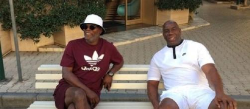 Samuel JAckson e Magic Johnson a Forte dei Marmi