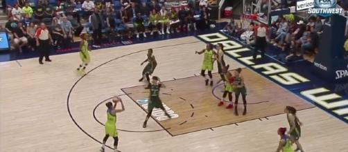 The Dallas Wings will try to continue their mission to reach the WNBA Playoffs as they host Atlanta Saturday night. [Image via WNBA/YouTube]