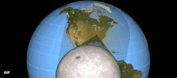 Eclipse total do Sol acontece nesta segunda-feira, nos Estados Unidos (Ilustração/NASA)