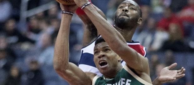 Giannis Antetokounmpo averaged 22.9 points, 8.8 rebounds and 5.4 assists last season. [Keith Allison via WikiMedia Commons]