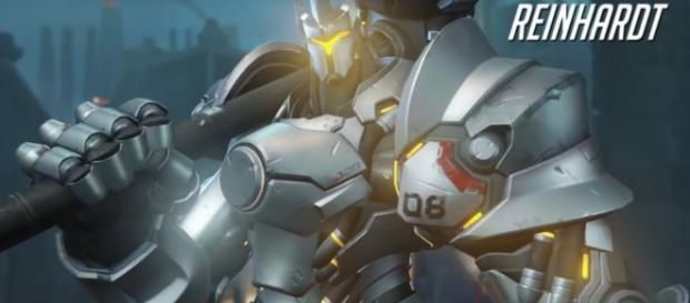 "Reinhardt is arguably one of the best tank heroes in ""Overwatch"" (via YouTube/PlayOverwatch)"