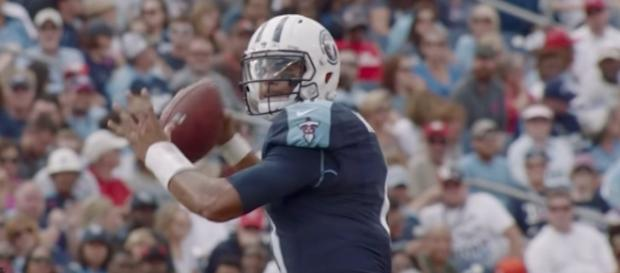 Titans QB Marcus Mariota hopes to do more in today's preseason game against the Carolina Panthers. [Image via NFL/YouTube]