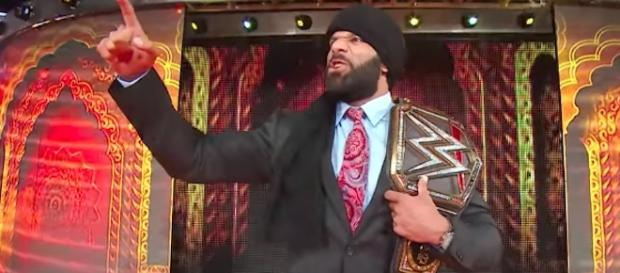 Will Jinder Mahal leave WWE's 'SummerSlam' PPV as the WWE Champion on Sunday? [Image via WWE/YouTube]