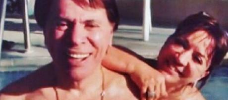 Silvio Santos é flagrado em momento de descontração