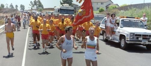 1984 Summer Olympics torch relay (credit – SgMalko – wikimediacommons)