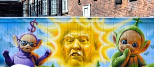 An example of a mural with political motive and an intent to portray Donald Trump negatively (Kristoffer Trolle via Flickr)