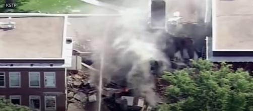 Explosion Reported At Minneapolis School, Possible Gas Explosion According To Officials/ Photo via YouTube/ TIME