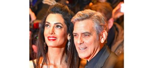 George and Amal Clooney. - Wikimedia
