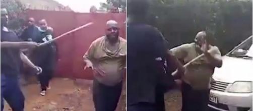 Homem leva uma surra após ser flagrado com mulher casada