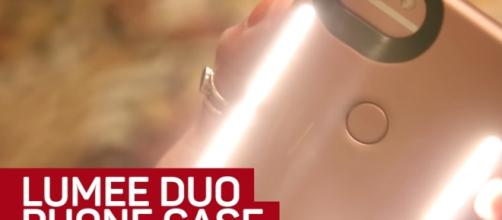 Kim Kardashian faced lawsuit against SnapLight for an alleged stealing of ideas with LuMee case. Image via YouTube/CNET