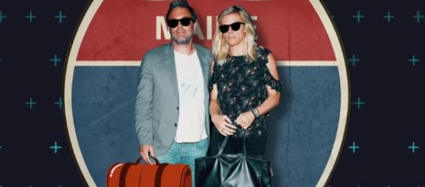 Ben Affleck and Lindsay Shookus spent first vacation together in Maine. Image via YouTube/E! News