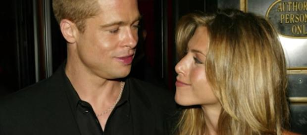 Brad Pitt and Jennifer Aniston in rumors for a TV reunion with Jimmy Kimmel late night show. Image via YouTube/Nicki Swift