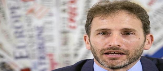 Davide Casaleggio durante il suo intervento a Roma.