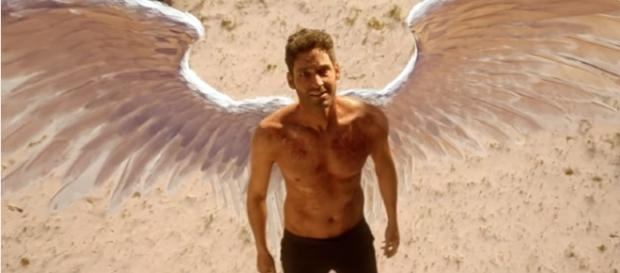 """Lucifer's wings are back in """"Lucifer"""" Season 3. (Photo:YouTube/TVPromosDB)"""