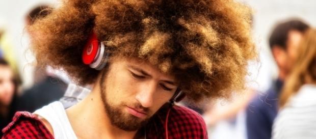 Man listening to music via Flickr