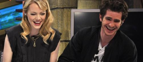 A photo showing Andrew Garfield and Emma Stone photographed in 2012 - Flickr/El Hormiguero