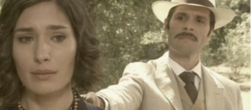 Anticipazioni Il Segreto del 20 agosto, Camilla confessa a don Anselmo di aver avuto un rapporto sessuale con Nestor