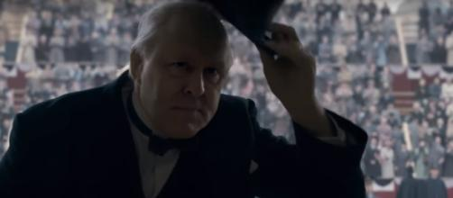 Jonh Lithgow as Winston Churchill, The Crown- (YouTube/FilmIsNow Movie Bloopers & Extras)