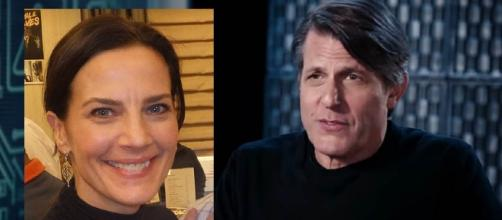 """""""Star Trek"""" royalty: Terry Farrell and Adam Nimoy are engaged [Images: Wikimedia/Rob DiCaterino/CC BY 2.0/YouTube/BUILD Series]"""