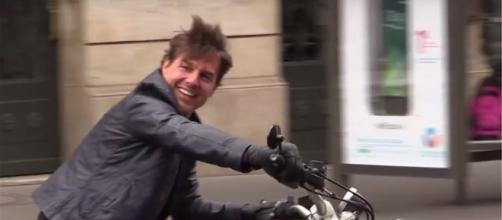 Tom Cruise was seen crashing into a wall after attempting a stunt for Mission: Impossible 6. [Image Credit: Sithara/Youtube]