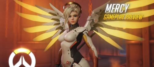"When talking about support heroes in ""Overwatch,"" Mercy is always the top choice (via YouTube/PlayOverwatch)"