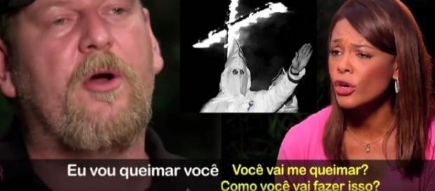 Racista do KKK diz que irá queima jornalista viva