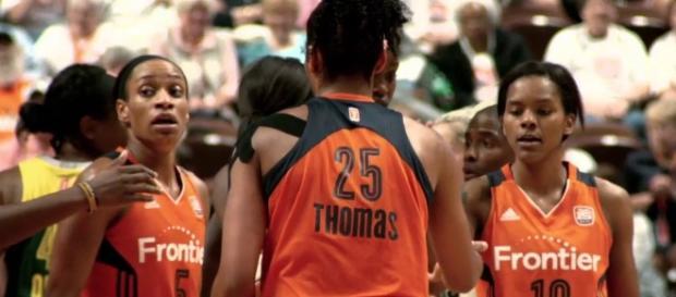 The Connecticut Sun host the Phoenix Mercury at 3 p.m. Eastern Time on Sunday. [Image via WNBA/YouTube]