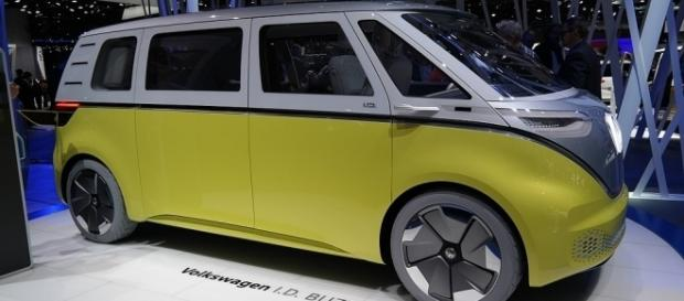 The new electric Volkswagen I.D.Buzz will be released by 2022. (Credit: Norbert Aepli/Wikimedia)