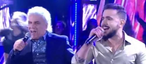 """Dupla Matogrosso e Mathias interpreta """"Boate Azul"""" no Ding Dong - reprodução"""