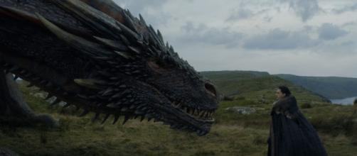 Fans are hoping that Jon Snow will be able to ride the dragon named after his father Rhaegar. source: mickdemi/youtube