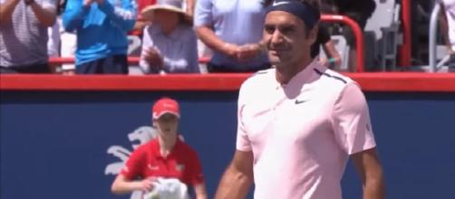 Federer during 2017 Rogers Cup in Montreal/ Photo: screenshot via ATPWorld Tour channel on YouTube