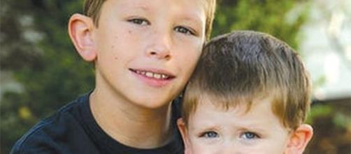 I due fratellini, Jacob (a sinistra) e Dylan, protagonisti dell'accaduto