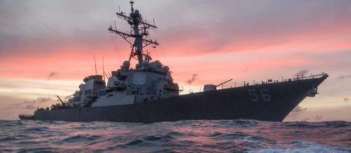 US Navy destroyer and merchant ship collide near Singapore - NewsTimes - newstimes.com