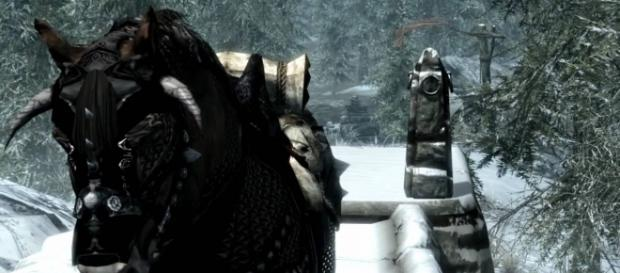 Horse armor from the 'Elder Scrolls IV.' (image source: YouTube/HutkiEntertainment)