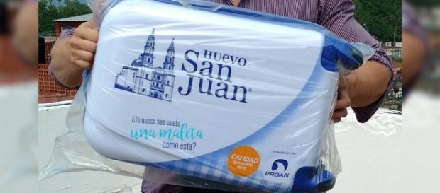 Huevo San Juan premia a quienes usan sus cajas como maletas ... - presencia.mx