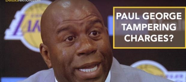 Lakers under investigation by the NBA for tampering with Paul George - (Image credit: YouTube/Lakers Nation)