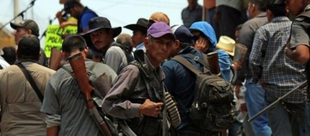 Miles de campesinos, despojados de sus tierras, azotados por una pobreza agobiante se alistan para la verdadera guerra. Imagen grieta.org.mx